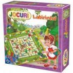 2 in 1 Scufita Rosie in Labirint si Peripetii cu Pinochio, +4 Joc D-Toys