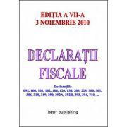 DECLARATII FISCALE.3 NOIEMBRIE 2010
