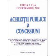 ACHIZITII PUBLICE SI CONCESIUNI 23 SEPTEMBRIE 2010