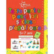 TESTE PENTRU PRESCOLARI SI CLASA PREGATITOARE.5-7 ANI