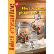 Flori de camp pictate pe sticla- Idei creative 80