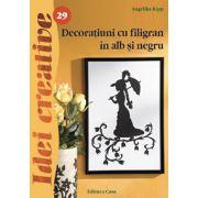 Decoratiuni cu filigran in alb si negru- Idei creative 29