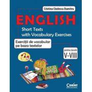 English. Exercitii de vocabular pe baza textelor