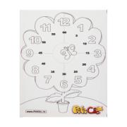 Tablou cu ceas floare   CD joc. Set educativ nr 03