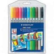 CariocI cu 2 capete de scriere 12 culori/set STAEDTLER Noris