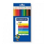 Creioane colorate, 1/1, 12 culori/set, STAEDTLER Noris