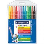 Creioane color cerate 12 culori/set Staedtler Noris Twister