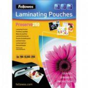 Folii pt. laminare, 214 x 303mm (A4), 250 mic., 100 buc/cutie, FELLOWES Preserve250