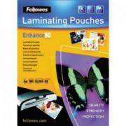 Folii pt. laminare, 154 x 216mm (A5), 80 mic., 100 buc/cutie, FELLOWES Enhance80