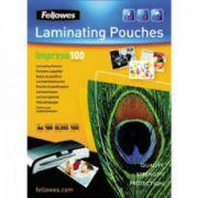 Folii pt. laminare, 154 x 216mm (A5), 100 mic., 100 buc/cutie, FELLOWES Impress100