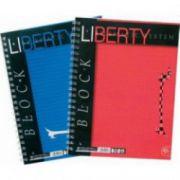 Caiet pentru birou cu spira, A4, 80 file, matematica, PIGNA Liberty