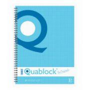 Caiet pentru birou cu spira, A4, 120 file, matematica, PIGNA Quablock