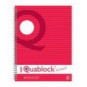 Caiet pentru birou cu spira, A4, 120 file, dictando, PIGNA Quablock