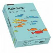 Hartie colorata, A4, 80 g/mp, 500 coli/top, albastru mediu (medium blue), RAINBOW