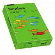 Hartie color, A4, 80 g/mp, 500 coli/top, verde intens (intensive green), RAINBOW