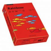 Hartie color, A4, 80 g/mp, 500 coli/top, rosu intens (intensive red), RAINBOW