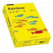 Hartie color, A4, 80 g/mp, 500 coli/top, galben intens (intensive yellow), RAINBOW
