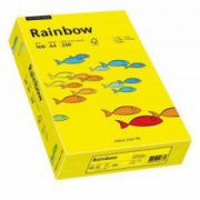 Carton color, A4, 160 g/mp, 250 coli/top, galben intens (intensive yellow), RAINBOW