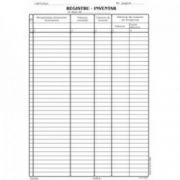 Registru inventar, A4, tipar fata, 100 file/carnet