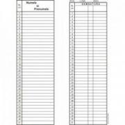 Condica de prezenta, A4, tipar fata/verso, 100 file/carnet