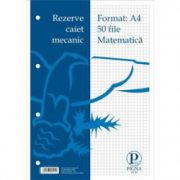 Rezerva caiet mecanic A4 50 file, matematica Pigna