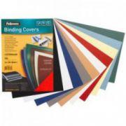 Coperti imitatie piele, rosu, A4, 250 g/mp, 100 buc/top, FELLOWES Delta