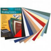 Coperti imitatie piele, negru, A4, 250 g/mp, 100 buc/top, FELLOWES Delta