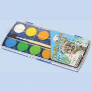 Acuarele 12 culori ZOO cu pensula 20 mm
