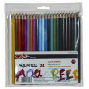 Creioane color 24culori/set Aquarell Scriva