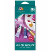 Set culori acrilice, 12 culori/set