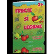 Fructe si legume (carte de colorat cu abtibilduri)