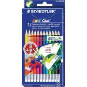 Creioane color Staedtler cu guma de sters 12culori/set Noris Club