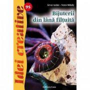 Bijuterii din lana filtuita. Idei creative 95
