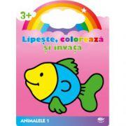 Lipeste, coloreaza si invata - ANIMALELE 1