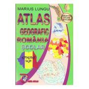 ATLAS GEOGRAFIC ROMANIA. SCOLAR