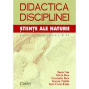 DIDACTICA DISCIPLINEI. STIINTE ALE NATURII