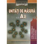 UNITATI DE MASURA DE LA A LA Z