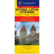 HARTA RUTIERA ESTONIA, LETONIA, LITUANIA