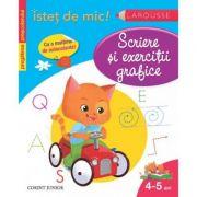 Scriere si exercitii grafice (4-5 ani) - carte cu autocolante
