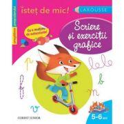 Scriere si exercitii grafice (5-6 ani) - carte cu autocolante