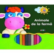 Animale de la ferma - invat sa modelez (carte + plastilina)