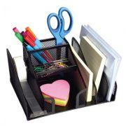 Suport birou compartimentat Office negru