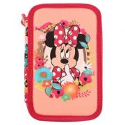 Penar Minnie Mouse, neechipat, 3 fermoare, 3 compartimente