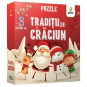 Puzzle educativ. Traditii de Craciun