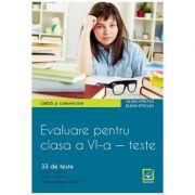 Evaluare pentru clasa a VI-a - 33 de teste