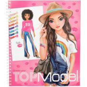Carte de colorat Create Your Top Model