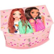 Cutie de bijuterii Top Model Tropical, roz, cu oglinda
