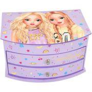 Cutie de bijuterii Top Model, lila, cu oglinda