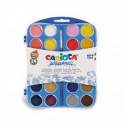 Acuarele Carioca 24 culori/ set plus pensula