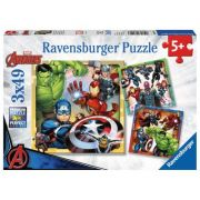 Puzzle Ravensburger - Marvel Avengers, 3 in 1, 3x49 piese